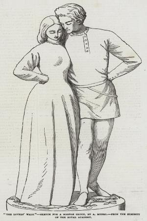 the-lovers-walk-sketch-for-a-marble-group-by-a-munro-from-the-exhibition-of-the-royal-academy