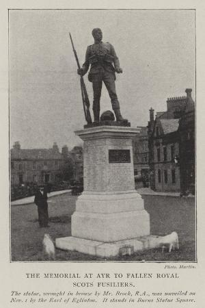 the-memorial-at-ayr-to-fallen-royal-scots-fusiliers