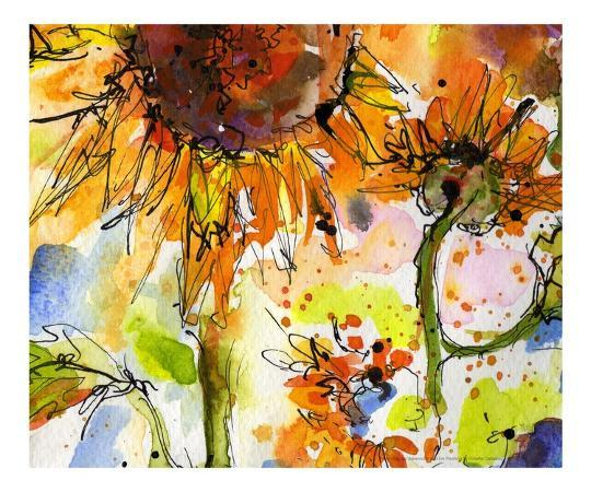 the-new-monet-abstract-modern-sunflower-painting