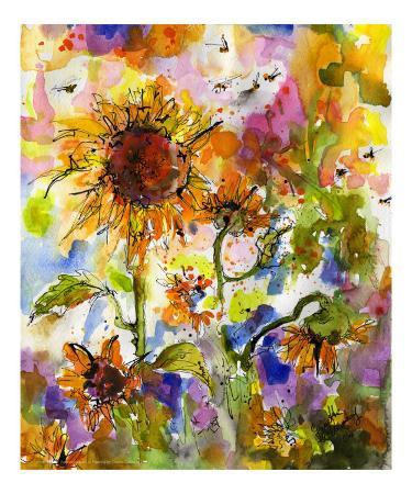 the-new-monet-sunflowers-bees-provence-abstract