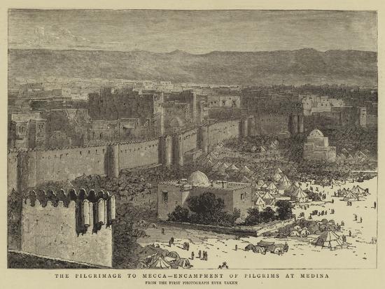 the-pilgrimage-to-mecca-encampment-of-pilgrims-at-medina