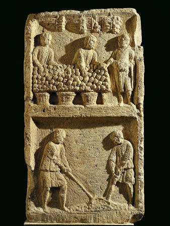the-pillar-of-the-farmer-relief-depicting-a-fruit-market-and-two-farmers-tilling-the-soil