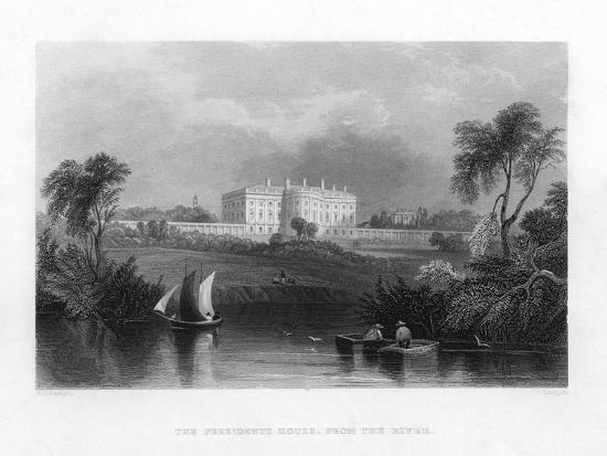the-presidents-house-from-the-river-c1820-1850