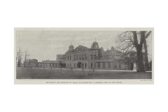 the-prince-and-princess-of-wales-at-badminton-a-general-view-of-the-house