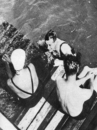 the-prince-of-wales-with-friends-on-a-raft-the-riviera-c1930s
