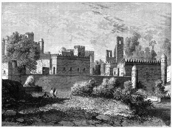 the-royal-palace-at-gondar-the-ancient-capital-of-abyssinia-c1890