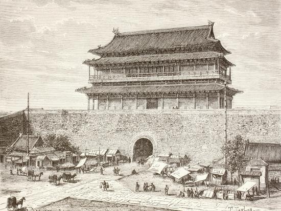 the-tiananmen-gate-in-peking-in-the-1880s