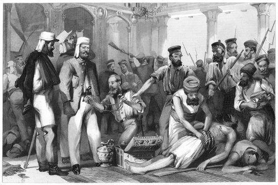 the-times-correspondent-looking-on-at-the-sacking-of-the-kaiser-bagh-1858