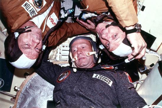 the-two-crews-of-the-joint-us-ussr-astp-docking-in-earth-orbit-mission