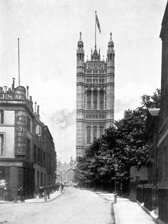 the-victoria-tower-palace-of-westminster-london-c1905