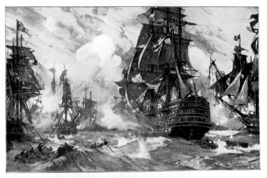 the-victory-at-the-battle-of-trafalgar-19th-century