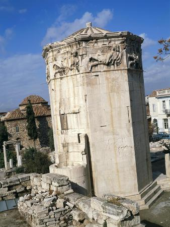 the-winds-tower-also-called-horologion-in-the-roman-agora-in-athens