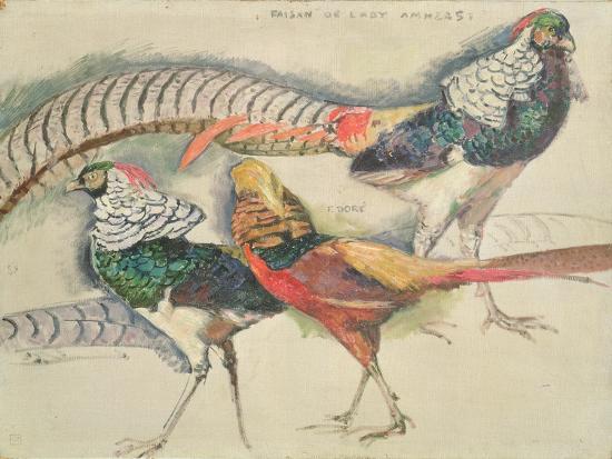 theo-van-rysselberghe-lady-amherst-s-pheasant