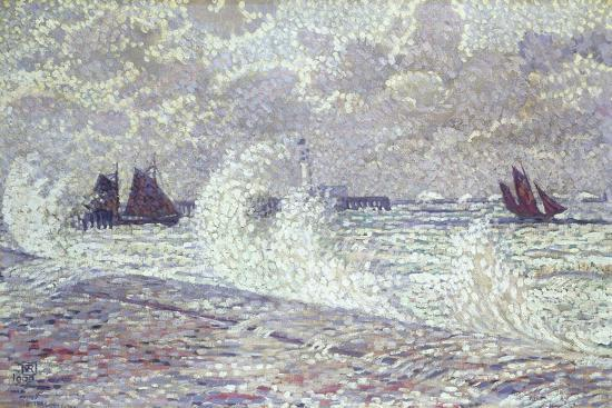 theo-van-rysselberghe-the-sea-during-equinox-boulogne-sur-mer-1900