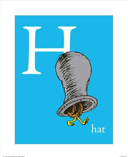 h is for hat blue