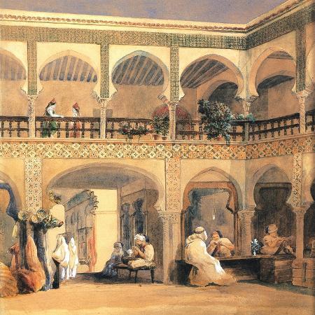 theodore-chasseriau-bazaar-in-orleans-1840s