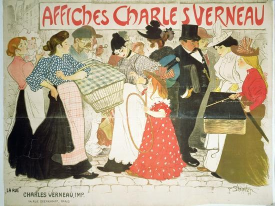theophile-alexandre-steinlen-the-street-poster-for-the-printer-charles-verneau-1896