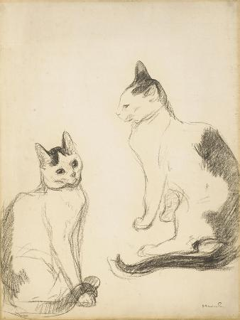 theophile-alexandre-steinlen-the-two-cats-les-deux-chats