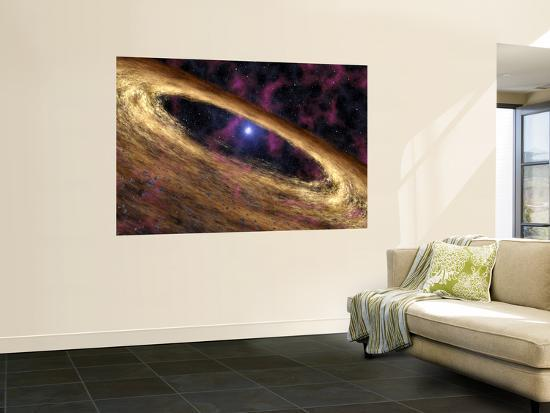 this-artist-s-concept-depicts-type-of-dead-star-called-a-pulsar-and-the-surrounding-disk-of-rubble