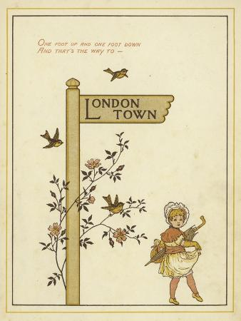 thomas-crane-a-sign-post-points-the-way-to-london-town-with-a-young-girl-walking-in-that-direction