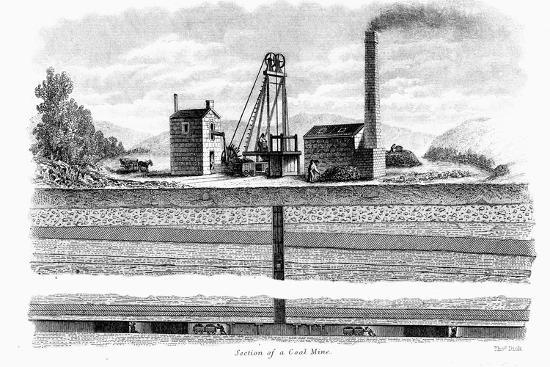 thomas-dick-section-of-a-coal-mine-1860