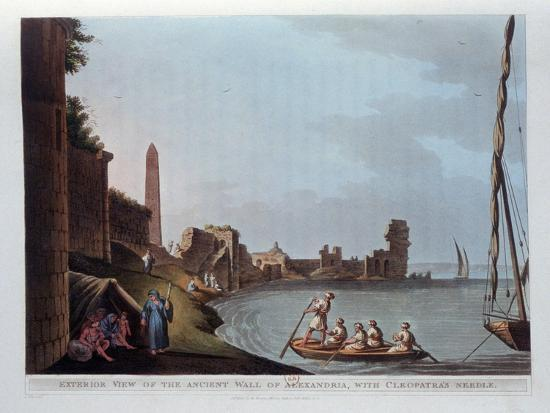 thomas-milton-exterior-view-of-the-ancient-wall-of-alexandria-with-cleopatra-s-needle-1802