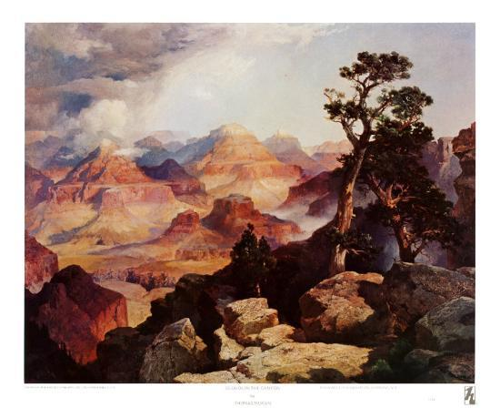 thomas-moran-clouds-in-the-canyon