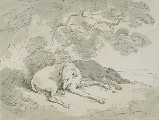 thomas-rowlandson-greyhounds-asleep