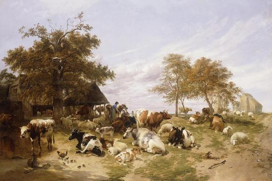 thomas-sidney-cooper-a-dairy-farm-on-the-marshes-east-kent-1859