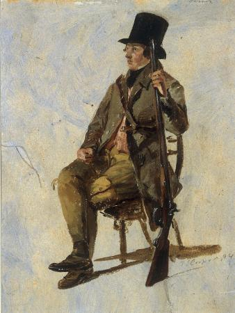 thomas-sidney-cooper-a-study-of-a-gamekeeper-1834