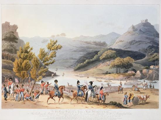 thomas-staunton-st-clair-fording-of-the-river-mondego-engraved-by-c-turner-21st-september-1810