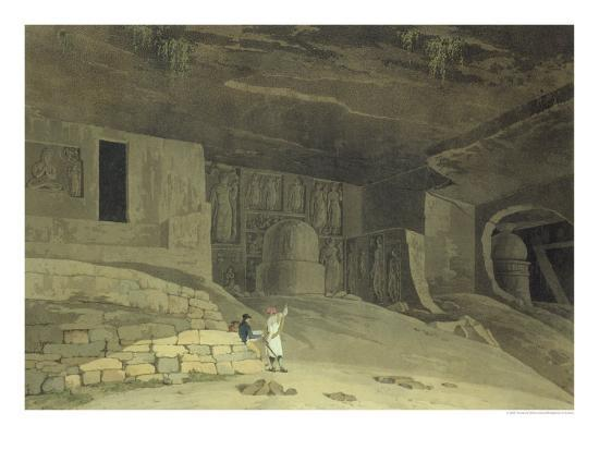 thomas-william-daniell-part-of-the-kanaree-caves-salsette-from-oriental-scenery-twenty-four-views-in-hindoostan-1800