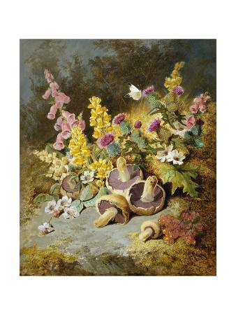 thomas-worsey-still-life-of-floxgloves-mushrooms-snapdragons-and-thistles