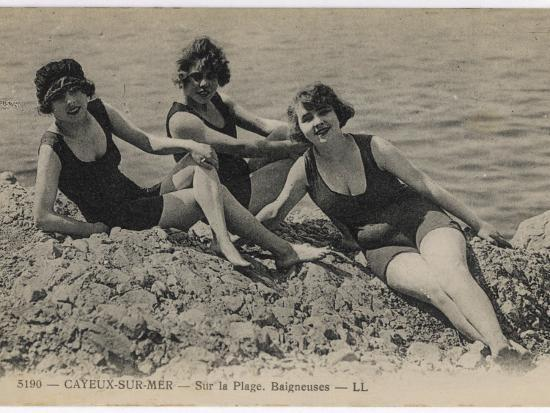 three-bathing-beauties-relaxing-by-the-sea-at-cayeux-sur-mer-france