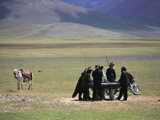 tibetan-men-play-pool