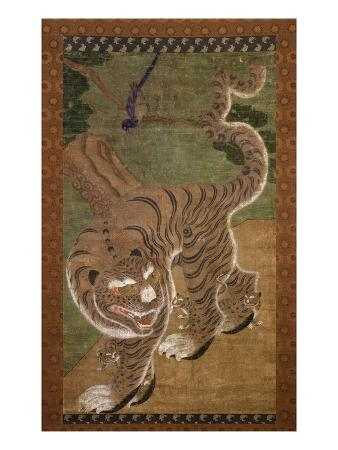tiger-with-cubs-ink-on-silk-18th-century-choson-dynasty-korea