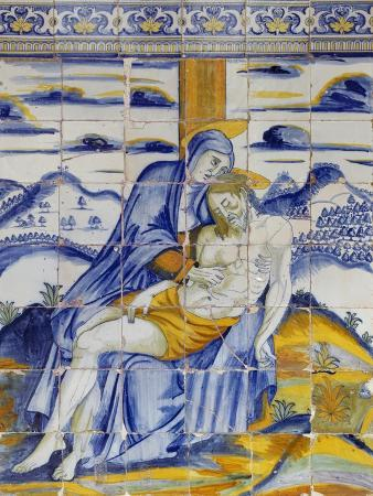 tile-depicting-deposition-of-jesus-from-cross
