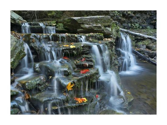 tim-fitzharris-kitchen-creek-cascades-autumn-ricketts-glen-state-park-pennsylvania