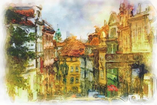 timofeeva-maria-nerudova-street-in-old-prague-made-in-artistic-watercolor-style