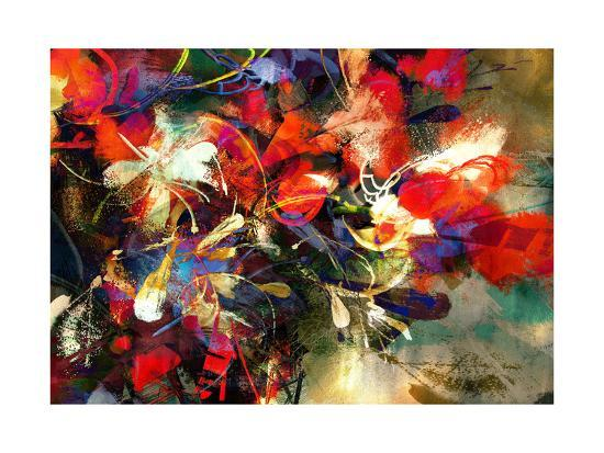tithi-luadthong-digital-painting-of-abstract-bright-colorful-flowers-illustration