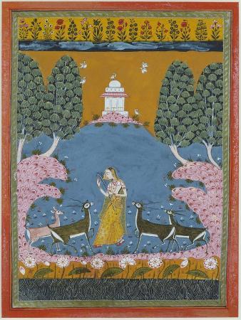 todi-ragini-playing-the-vina-to-four-deer