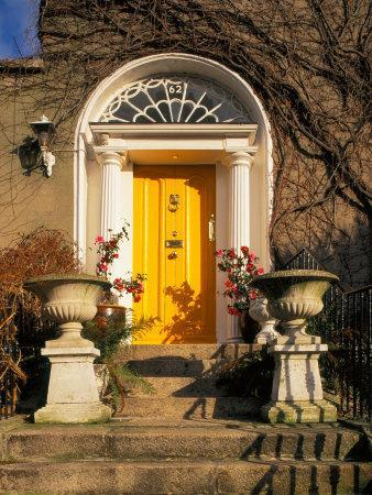 tom-haseltine-stairs-leading-to-bright-yellow-door- & Stairs Leading to Bright Yellow Door Dublin Ireland Photographic ...