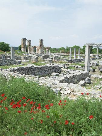 tony-gervis-town-built-for-octavia-over-the-assassins-of-julius-caesar-in-42-bc-philippi-filipi-greece