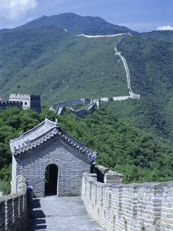 tony-waltham-restored-section-with-watchtowers-of-the-great-wall-northeast-of-beijing-mutianyu-china