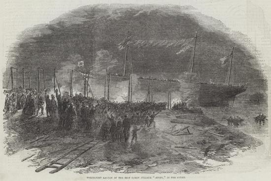 torchlight-launch-of-the-iron-screw-steamer-azoff-in-the-clyde