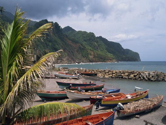 traverso-doug-fishing-boats-on-beach-overcast-sky-and-coast-martinique-lesser-antilles-french-west-indies