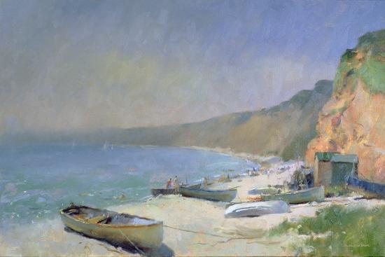 trevor-chamberlain-shimmering-beach-budleigh-salterton