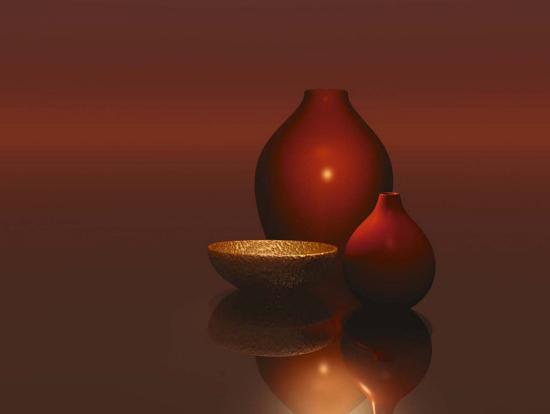 trevor-scobie-red-vases-with-bowl