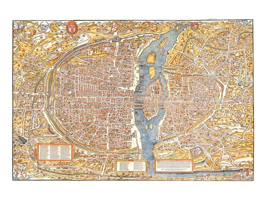 truschet-et-hoyau-plan-of-paris-from-1553