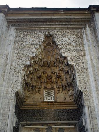 turkey-bursa-yesil-mosque-ottoman-style-15th-century-entrance-with-moca-rabe-half-dome